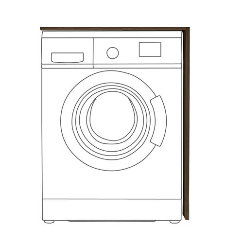 洗衣机柜(不含洗衣机)